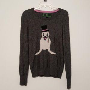 Cute Gray Seal Sweater